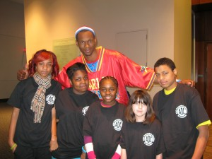 ADC Youth meet the Harlem Globe Trotters