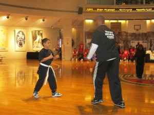 ADC youth providing martial arts demonstration at BB HOF2