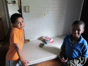 Alexy Ocasio and Hussein Iman, both 9, enjoy their time at the Duggan youth program.